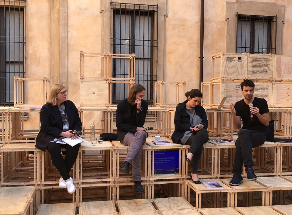 View of the Disegno x British Council debate at Palazzo Clerici