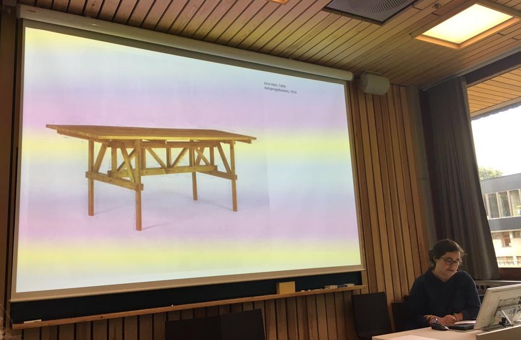A giant Autoprogettazione table and a small me at the 2017 DHS conference. Photo © DHS Ambassadors